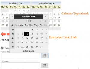 11c Reservations settings datepicker and calendar month date