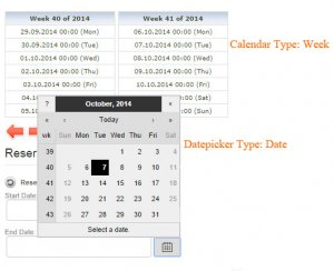 11b Reservations settings datepicker and calendar week date